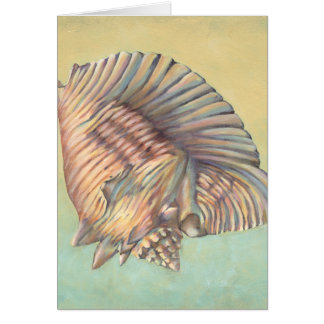 Pastel Large Conch Shell Card