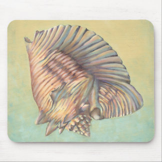Pastel Large Conch Shell Mouse Pad