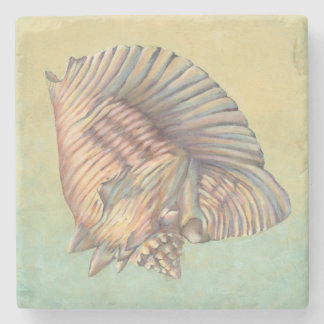 Pastel Large Conch Shell Stone Coaster