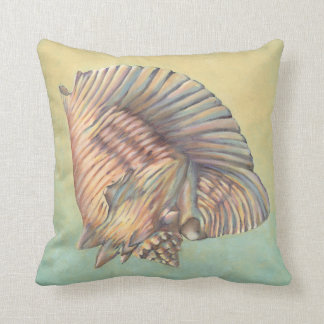 Pastel Large Conch Shell Throw Pillow