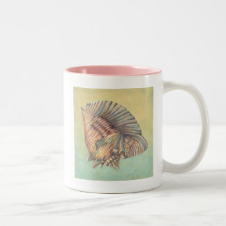 Pastel Large Conch Shell Two-Tone Coffee Mug