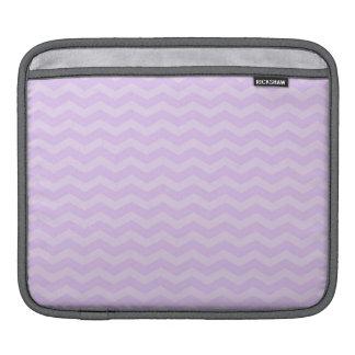 Pastel Lavender Purple Chevron Stripes iPad Sleeve