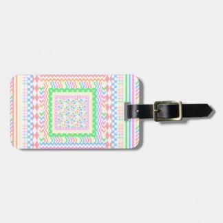 Pastel Layers Bag Tag