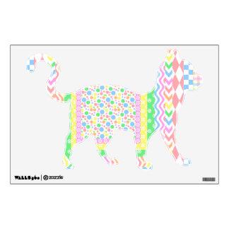 Pastel Layers Cat Wall Sticker