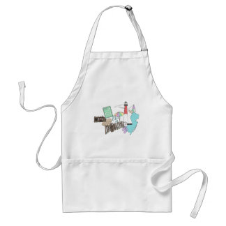 Pastel LBI Love Collage Adult Apron
