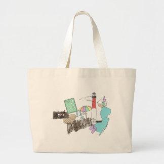 Pastel LBI Love Collage Large Tote Bag