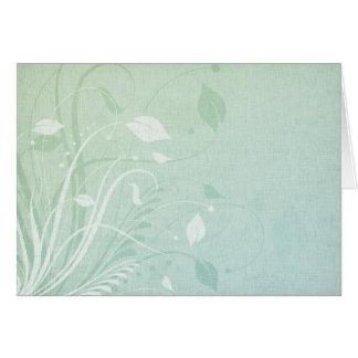 Pastel Leaves Card