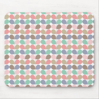Pastel Leaves pattern Mouse Pad