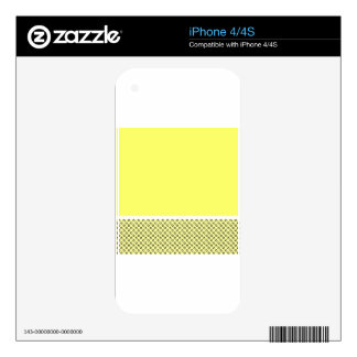 Pastel Lemon Lovers Decals For The iPhone 4S