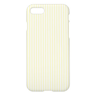 Pastel Lemon Yellow and White Stripes Pale Yellow iPhone 7 Case