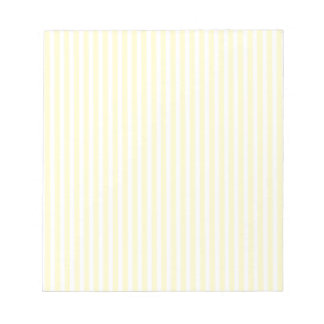 Pastel Lemon Yellow and White Stripes Pale Yellow Notepad