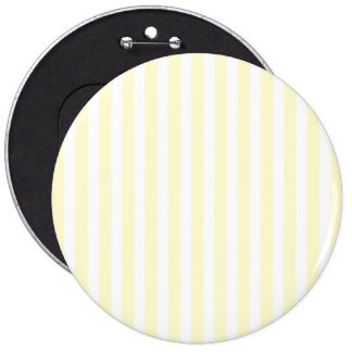 Pastel Lemon Yellow and White Stripes Pale Yellow Pinback Button