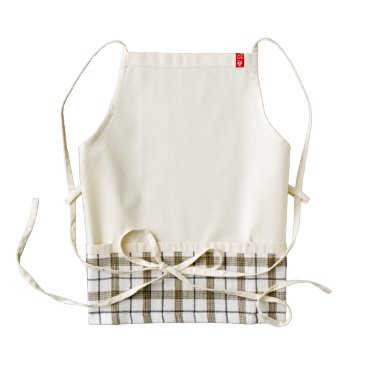 USA Themed Pastel Lemon Yellow and White Stripes Pale Yellow Zazzle HEART Apron