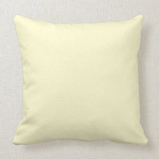 Pastel Lemon Yellow Pale Soft Meringue Yellow Throw Pillow