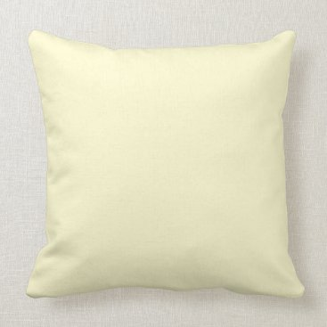 Beach Themed Pastel Lemon Yellow Pale Soft Meringue Yellow Throw Pillow