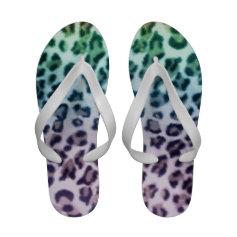 Pastel Leopard Flip Flops