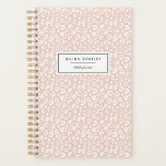 """Pastel Leopard Print Personalized Planner   Blush<br><div class=""""desc"""">Start the new year in style and keep track of your appointments and key date with our chic pastel animal print planner. Personalized design features a subtle blush pink and white leopard print pattern; add two lines of custom text for your name and the year in modern black lettering.</div>"""