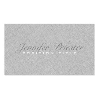 Pastel Light Gray Burlap Linnen Texture Double-Sided Standard Business Cards (Pack Of 100)