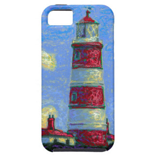 Pastel Lighthouse and Lavender Fields iPhone SE/5/5s Case