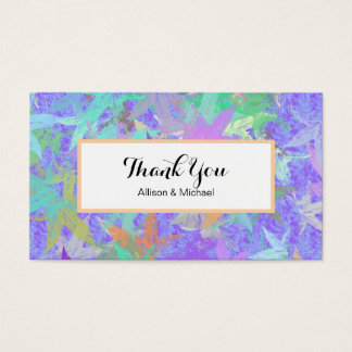 Pastel Lilac Autumn Maple Leaves Business Card