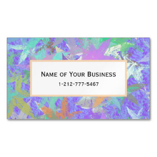 Pastel Lilac Autumn Maple Leaves Business Card Magnet