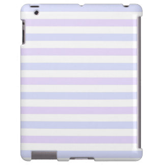 Pastel Lilac, Blue and White Stripes