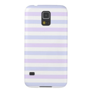 Beach Themed Pastel Lilac, Blue and White Stripes Case For Galaxy S5