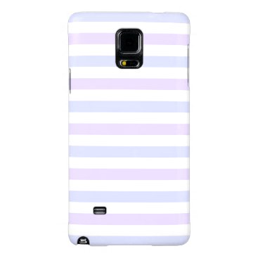 Beach Themed Pastel Lilac, Blue and White Stripes Galaxy Note 4 Case