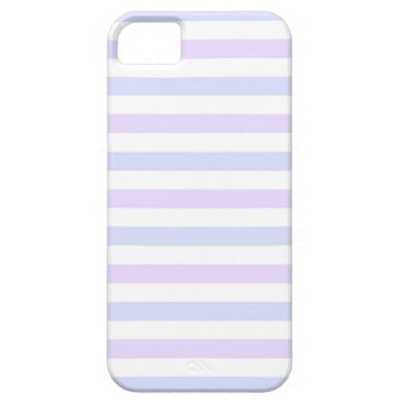 Beach Themed Pastel Lilac, Blue and White Stripes iPhone SE/5/5s Case