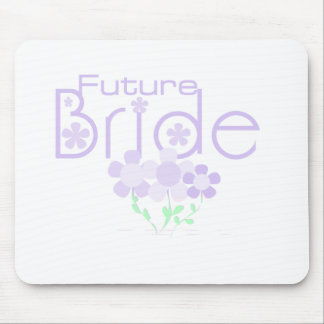 Pastel Lilac Flowers Future Bride Mouse Pad