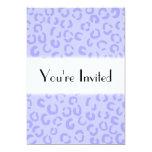 """Pastel Lilac Purple Leopard Print Pattern. 5"""" X 7"""" Invitation Card"""