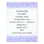 """Pastel Lilac Purple Leopard Print Pattern. 4.25"""" X 5.5"""" Invitation Card"""