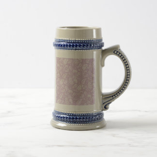 Pastel Lilac Spring Paisely Beer Stein