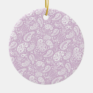 Pastel Lilac Spring Paisely Ceramic Ornament