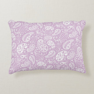 Pastel Lilac Spring Paisely Decorative Pillow