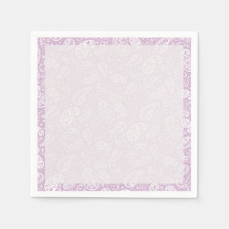 Pastel Lilac Spring Paisely Paper Napkin