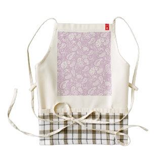 Pastel Lilac Spring Paisely Zazzle HEART Apron