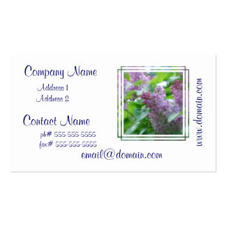 Pastel Lilacs Double-Sided Standard Business Cards (Pack Of 100)