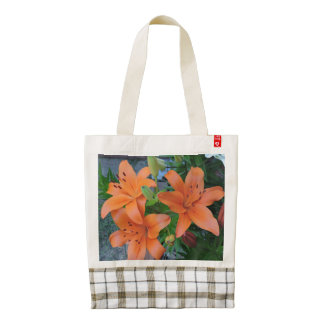 Pastel Lilies - Orange Zazzle HEART Tote Bag