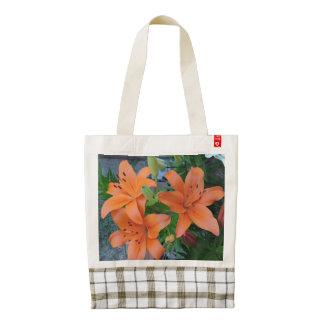 Pastel Lilies - Orange Zazzle HEART Tote Bag
