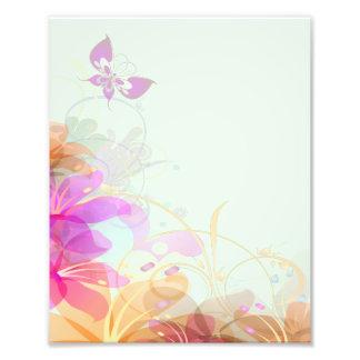 Pastel Lilies Wedding Art Photo