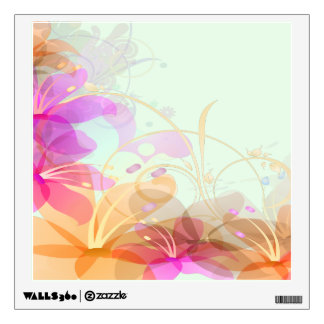 Pastel Lilies Wedding Wall Decal