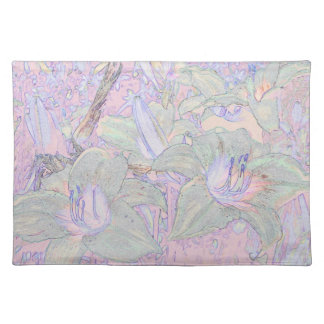 Pastel Lillies Placemats