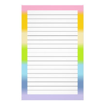 Pastel Lined Stationery