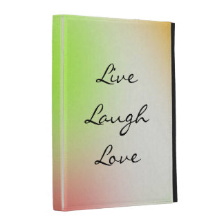 Pastel Live, Laugh, Love iPad Cases