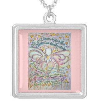 Pastel Lo que Cáncer no Puede Hacer Angel Necklace necklace