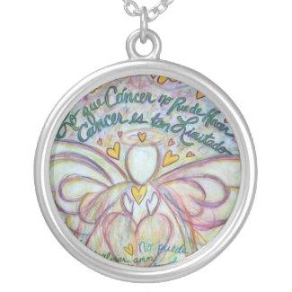 Pastel Lo que Cáncer no Puede Hacer Angel Necklace