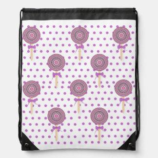 Pastel lollipop drawstring backpack