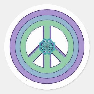 Pastel Lotus PeaceSymbol Sticker