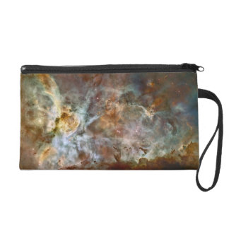 Pastel Marble in the Carina Nebula Wristlet Clutch